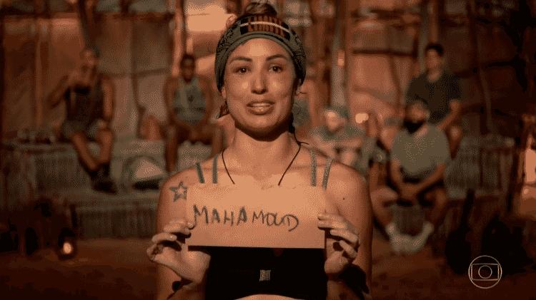 No Limite: Jéssica Mueller escreve nome de Mahmoud errado  - Reprodução/Globoplay - Reprodução/Globoplay
