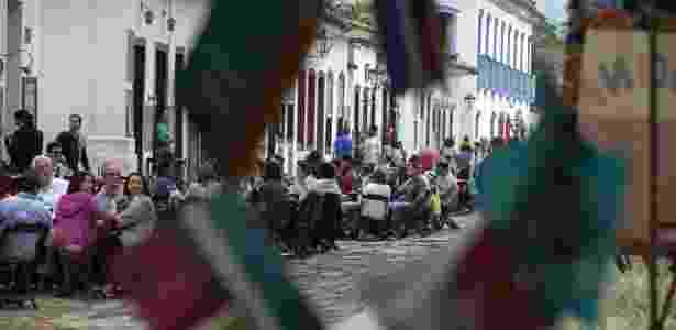 Público tomou o centro de Paraty durante a 13ª edição da Festa Literária Internacional de Paraty, FLIP 2015 -  EFE/Sebastião Moreira