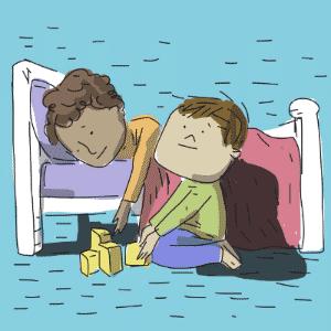VOCÊ QUER MESMO FICAR AQUI HOJE? | Essa pergunta é feita, frequentemente, na frente do amigo que convida para dormir na casa dele ou do professor de natação, depois de uma aula experimental - Jeff/UOL