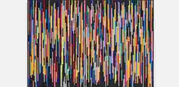 Obra de lã, 2015, de José Damasceno, 46 x 66cm - Paulo Barreto
