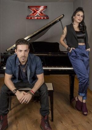 Di Ferrero e Alinne Rosa, jurados do X-Factor, da Band - Divulgação/Band