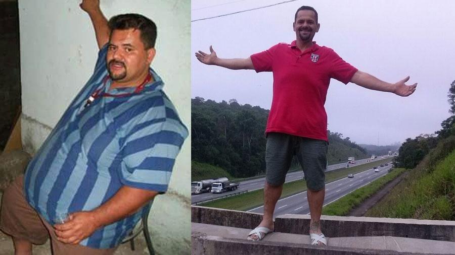 O motorista Gilberto Domingos de Souza, 38, mudou de vida ao emagrecer 96 quilos - Arquivo Pessoal