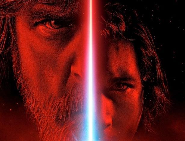 """Pôster em português de """"Star Wars: Os Últimos Jedi"""""""