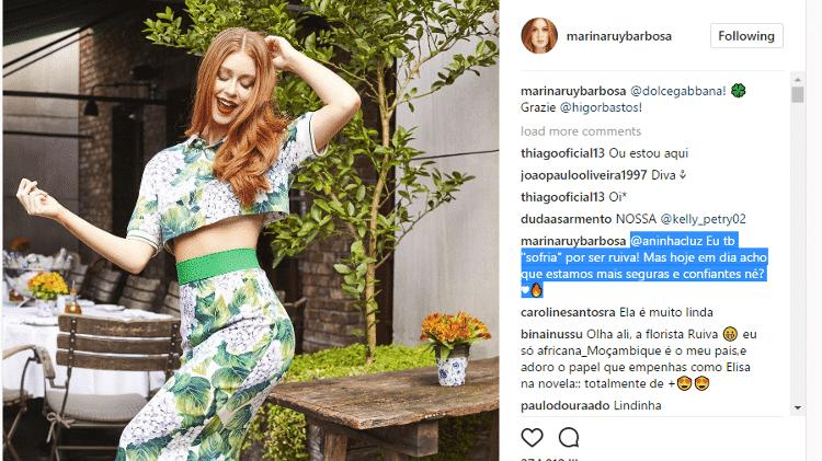 Marina Ruy Barbosa - Reprodução/Instagram - Reprodução/Instagram