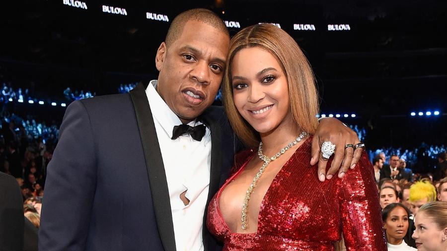 Jay Z e a mulher Beyoncé - Kevin Mazur/Getty Images