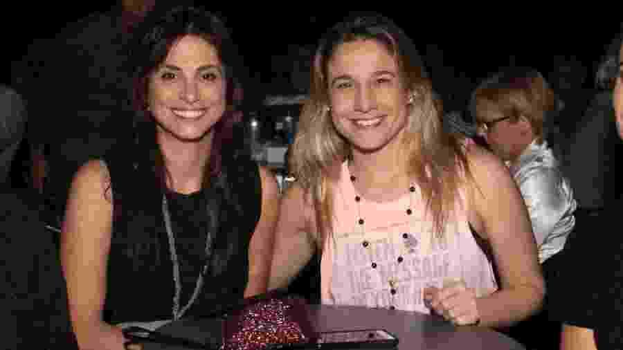Fernanda Gentil com a namorada Priscila - AgNews
