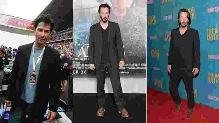 Keanu Reeves em 1997, 2012 e 2017 - Getty Images - Getty Images