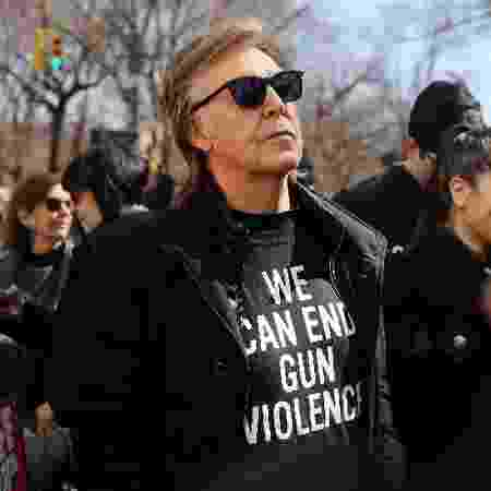 Paul McCartney em marcha contra armas de fogo nos EUA - Spencer Platt/Getty Images/AFP