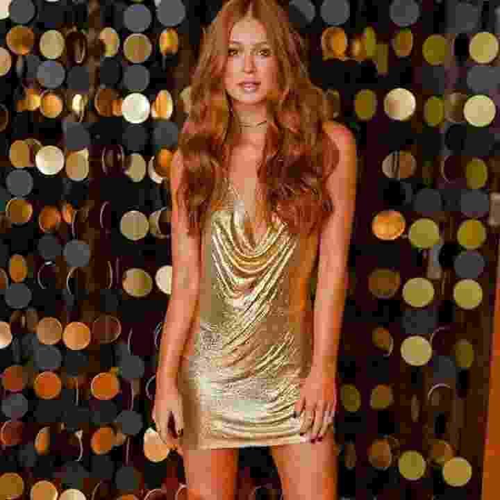 Marina aposta em vestido dourado para brilhar em sua festa de 23 anos no Rio - Reprodução/Instagram