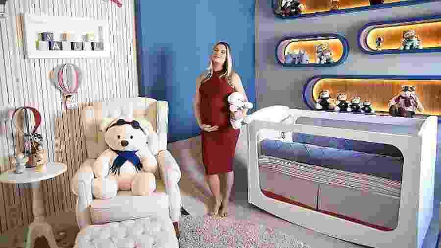 Andressa Suita no quarto de Samuel, seu segundo filho com Gusttavo Lima - Reprodução/Instagram