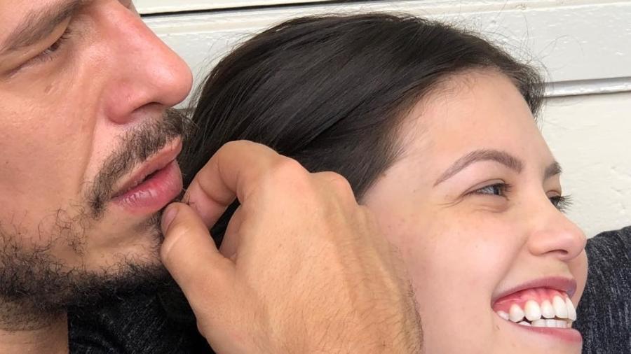 João Vicente de Castro e Vitória Strada em clima de romance - Reprodução/Instagram