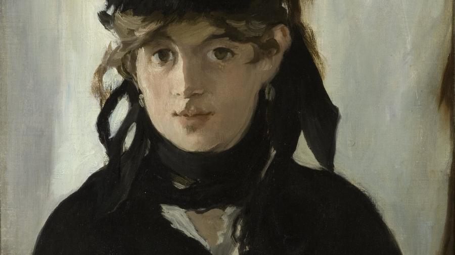 A francesa Berthe Morisot retratada por Manet, 1872 - Reprodução