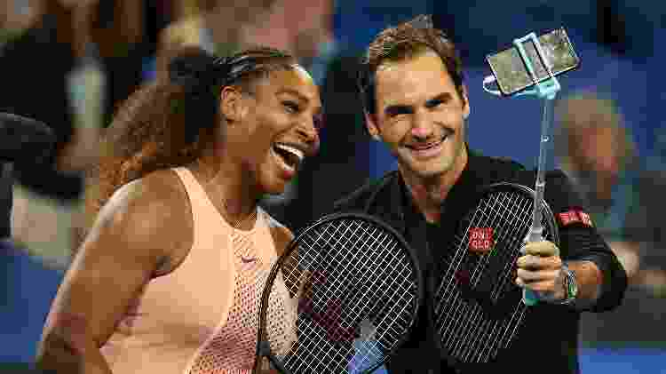 serena e federer - Getty Images - Getty Images
