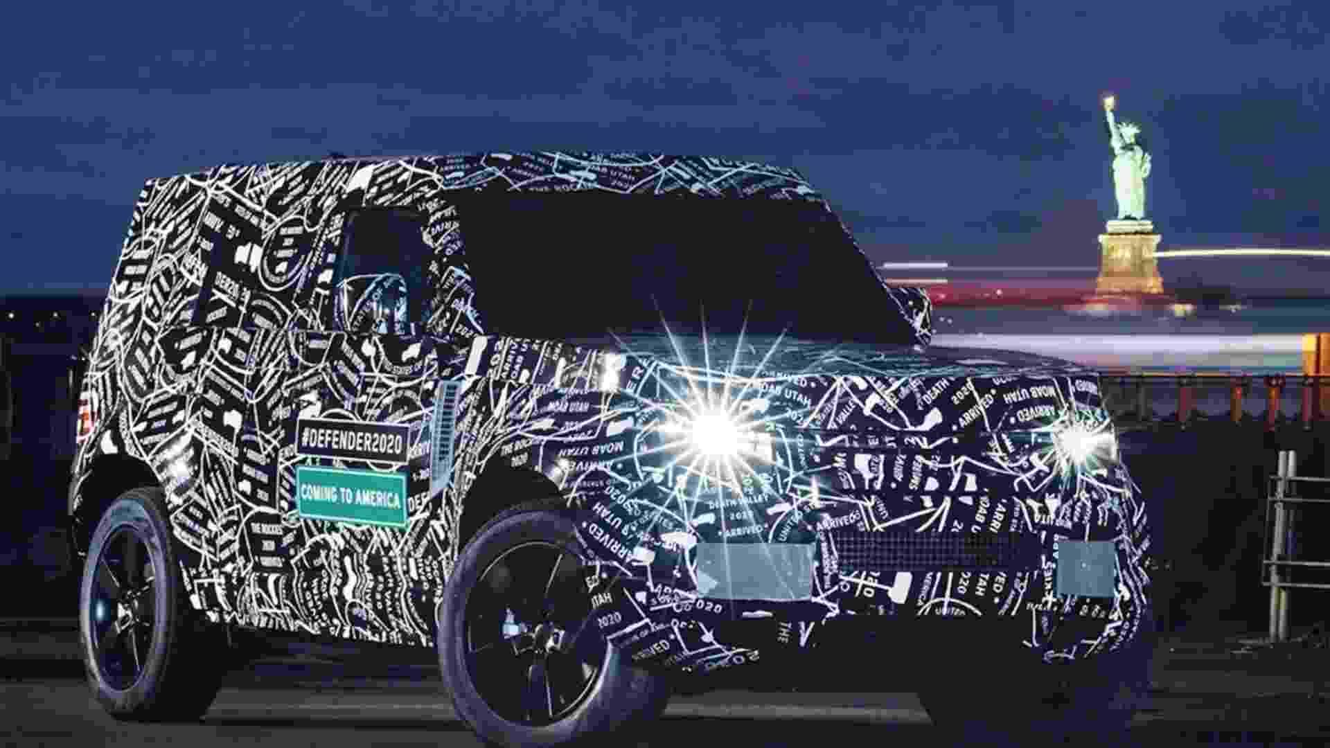 Land Rover Defender 2020 camuflado - Reprodução/Land Rover US