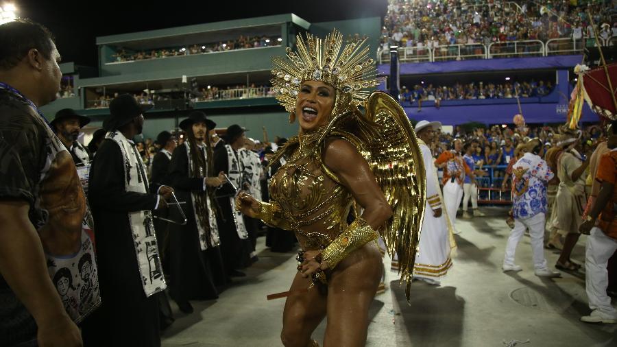 Gracyanne Barbosa desfilará, pelo terceiro ano seguido, como rainha da União da Ilha - Júlio César Guimarães/UOL