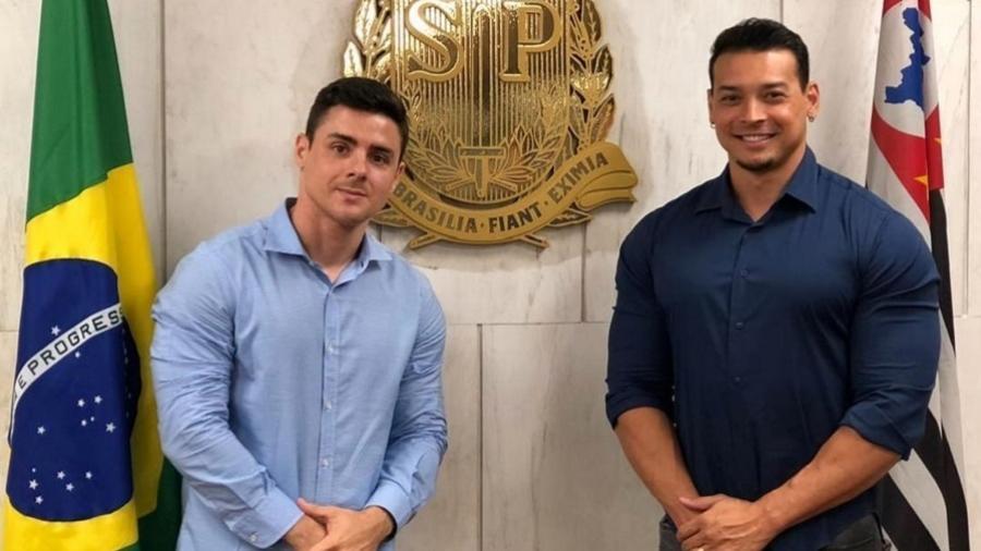 Felipe Franco e o deputado estadual Bruno Lima na Assembleia Legislativa de São Paulo - Reprodução/Instagram
