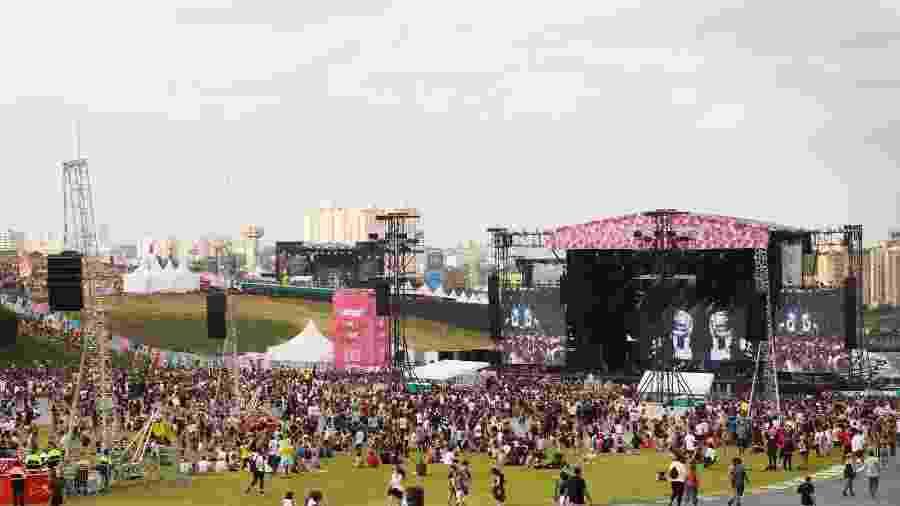 Público curte o primeiro dia de Lollapalooza Brasil 2019, no Autódromo de Interlagos, em São Paulo - Iwi Onodera/UOL