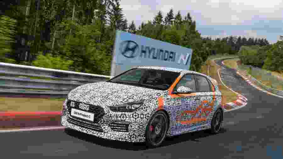 Hyundai i30 N Project C em Nürburgring - Divulgação/Hyundai