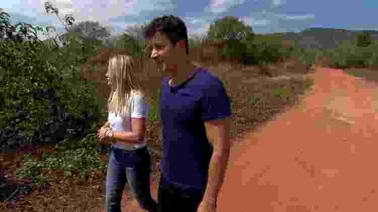 Rodrigo Faro e Antonia Fontenelle em visita ao Piauí, onde ela viveu até os dez anos de idade - Divulgação