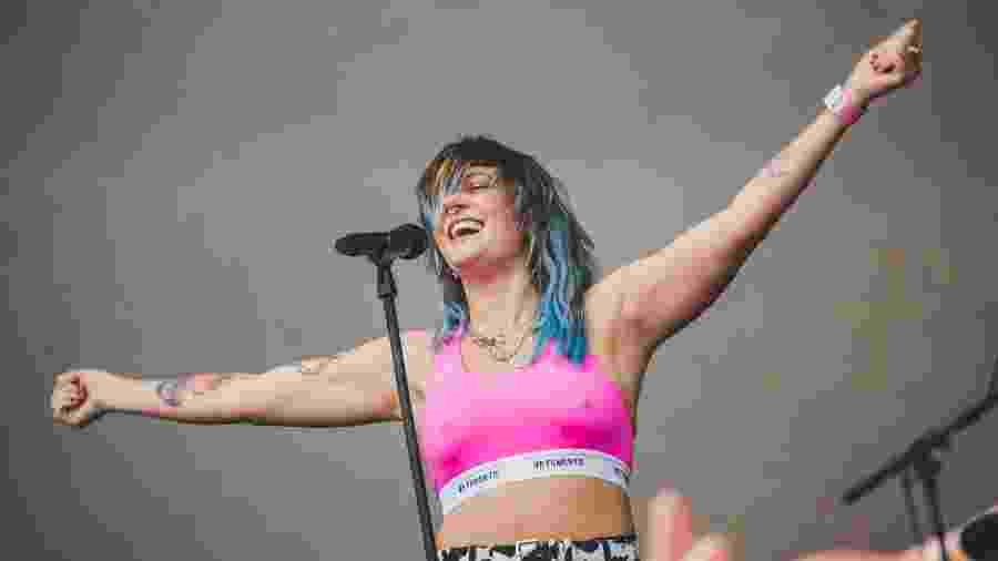 A cantora sueca Tove Lo no Popload Festival 2019 - Fernanda Tiné/UOL