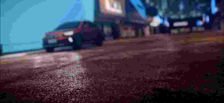 Vídeo exibe o Nivus de frente, porém com imagem desfocada; SUV cupê terá dianteira diferente daquela vista no T-Cross - Reprodução
