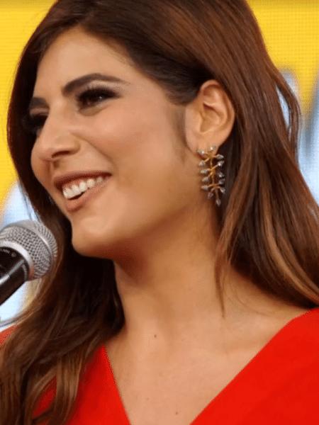 Andréia Sadi participa do Ding Dong, no Domingão do Faustão - Reprodução/TV Globo