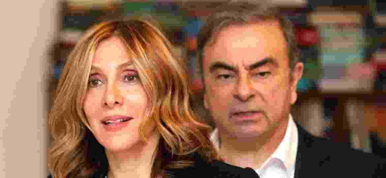 Esposa de Carlos Ghosn (à dir.), Carole disse que família está bem - Mohamed Azakir/Reuters
