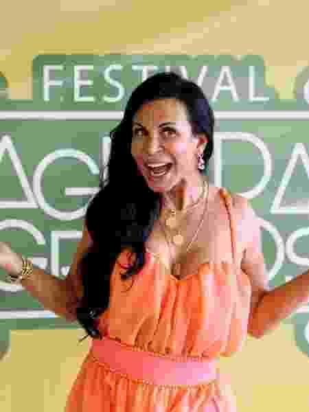 Gretchen no festival Agrada Gregos em SP - Gabriela Cais Burdmann/UOL