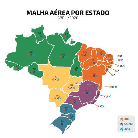 Malha aérea - Divulgação - Divulgação