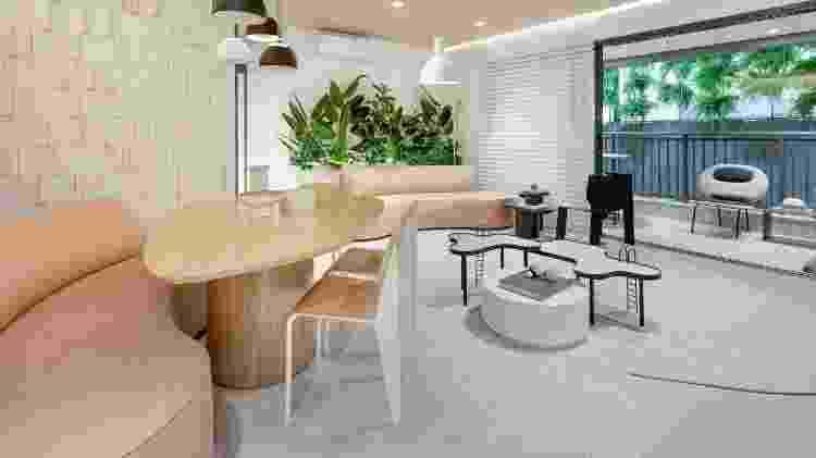 Sala de estar e jantar integradas em projeto da Bohrer Arquitetura - Fellipe Lima - Fellipe Lima