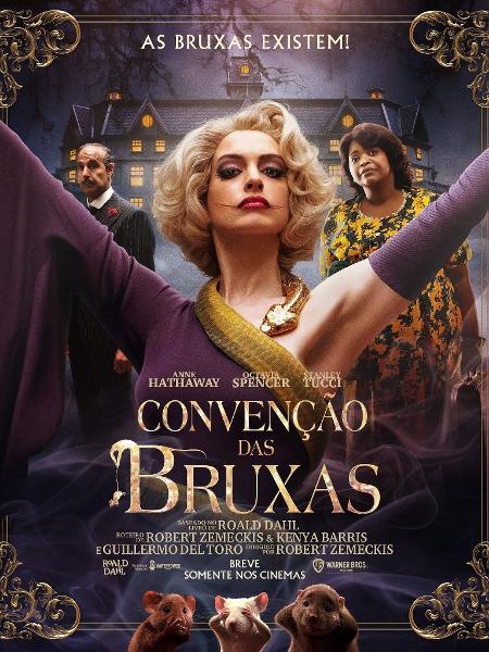 Anne Hathaway estava grávida nas gravações de 'Convenção das Bruxas' -  26/10/2020 - UOL TV e Famosos