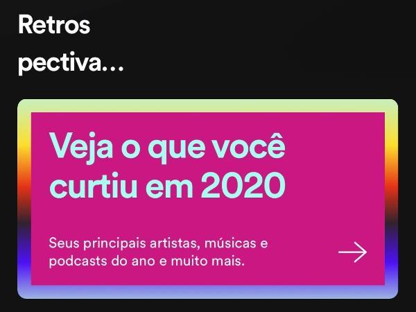 Imagem da Retrospectiva 2020 do Spotify