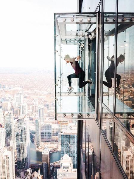 Sky Deck, em Chicago: projeto será replicado no centro de São Paulo - Reprodução Instagram