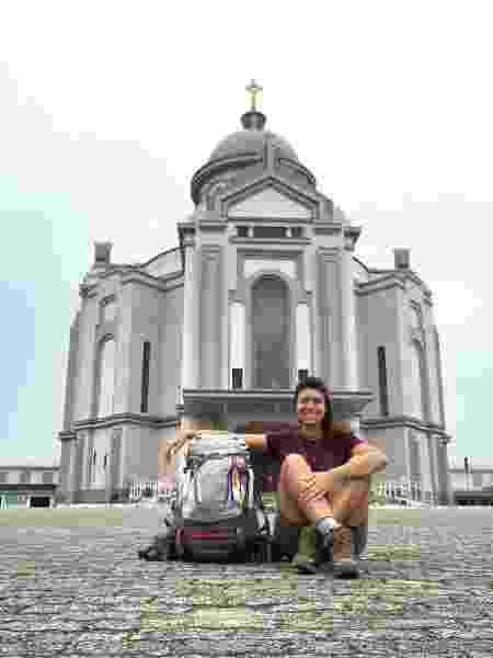 Marina Storch no santuário de Farroupilha - Arquivo pessoal  - Arquivo pessoal