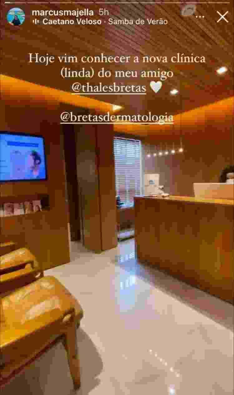 Marcus Majella visita clínica de Thales Bretas - Reprodução/Instagram - Reprodução/Instagram