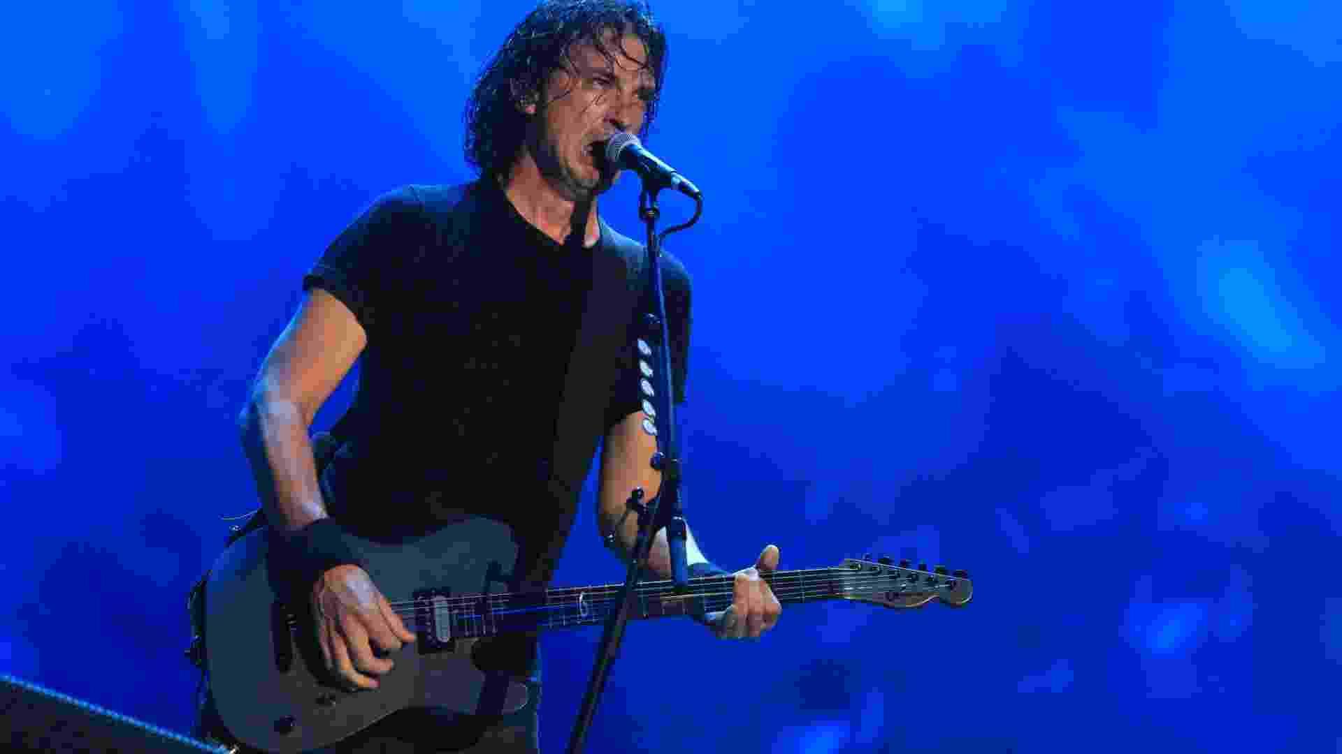 19.set.2015 - Joe Duplantier, vocalista da banda francesa Gojira, que abriu o Palco Mundo do Rock in Rio 2015 - Marco Antonio Teixeira/UOL