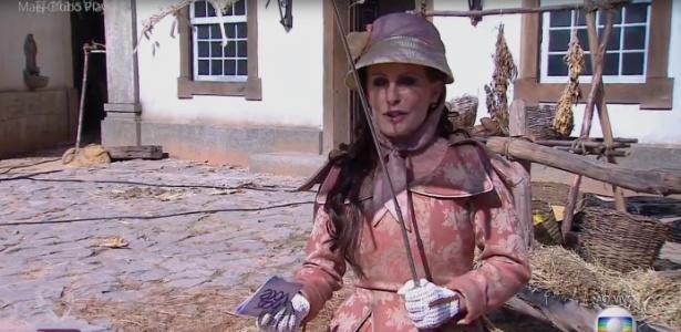 """Ana Maria Braga vira a condessa Braga e faz viagem no tempo para apresentar a novela """"Liberdade, Liberdade"""" - Reprodução/TV Globo"""