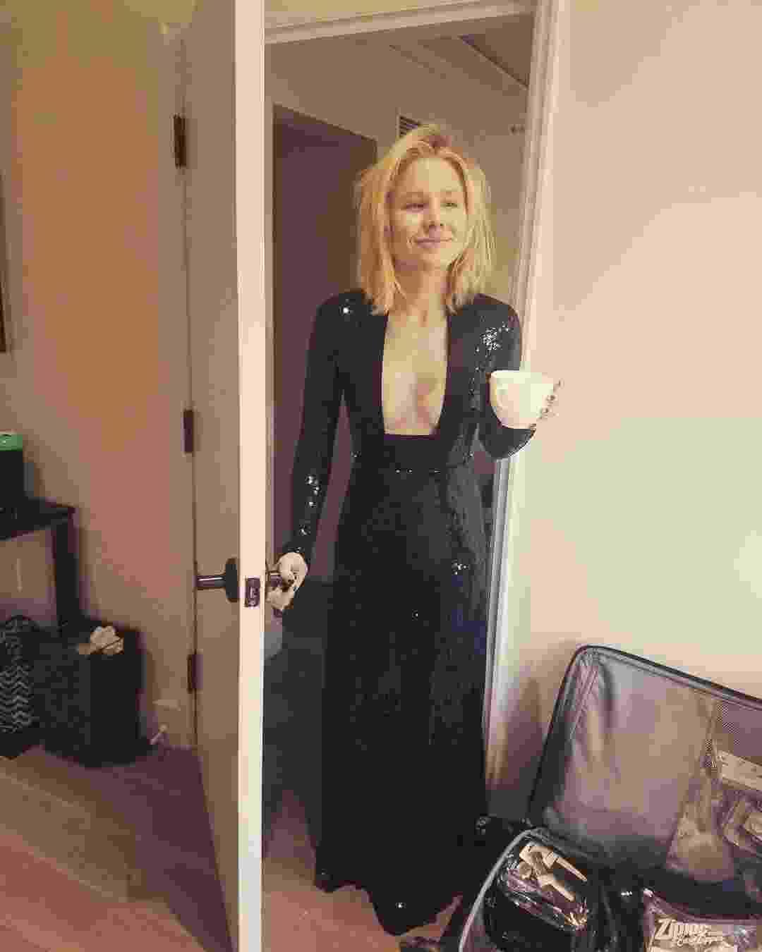 Preparativos: Kristen Bell - Reprodução/Instagram