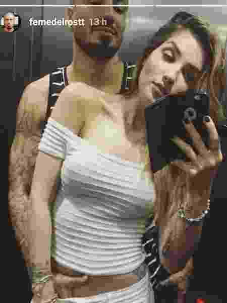 Ex-BBBs Fernando e Aline no elevador em clique indiscreto - Reprodução/Instagram/femedeirostt