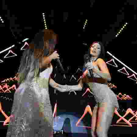As cantoras Simone e Simaria animaram camarotes em Salvador - Thiago Duran/AgNews