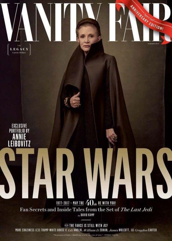 General Leia, interpretada por Carrie Fisher