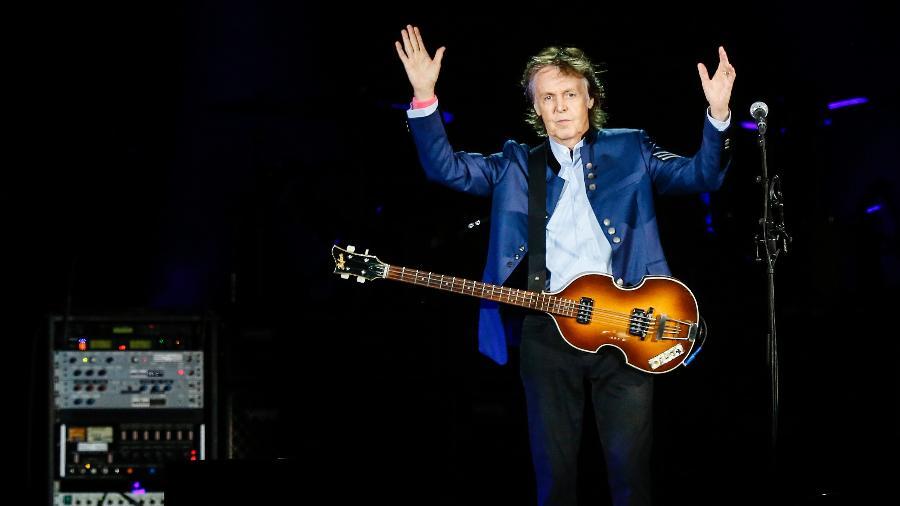 Show do cantor Paul McCartney, no estádio Allianz Parque, em São Paulo.  - Lucas Lima/UOL