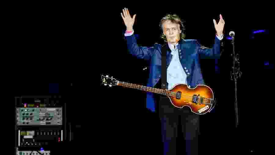 Show do cantor Paul McCartney, no estádio Allianz Parque, em São Paulo, durante sua última passagem pelo Brasil - Lucas Lima/UOL