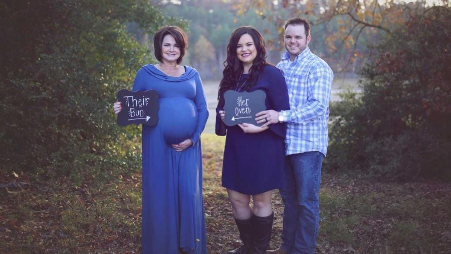 Patty Resecker, a nora Kayla e o filho, Cody - Reprodução
