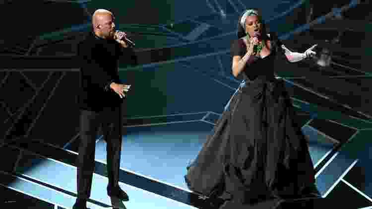 O rapper Common e a cantora Andra Day - Kevin Winter/Getty Images - Kevin Winter/Getty Images