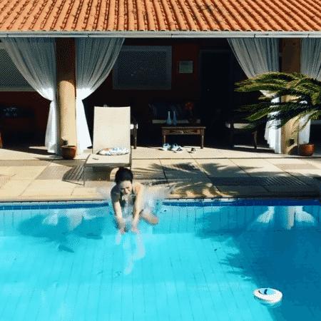 Tatá Werneck arrisca um mergulho no feriado - Reprodução/Instagram