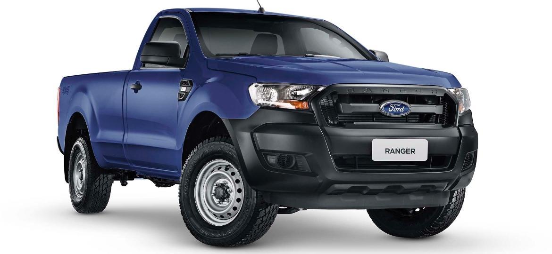Ford Ranger 2019 configuração XL com motor 2.2 turbodiesel, câmbio manual, tração 4x4 e cabine simples - Divulgação