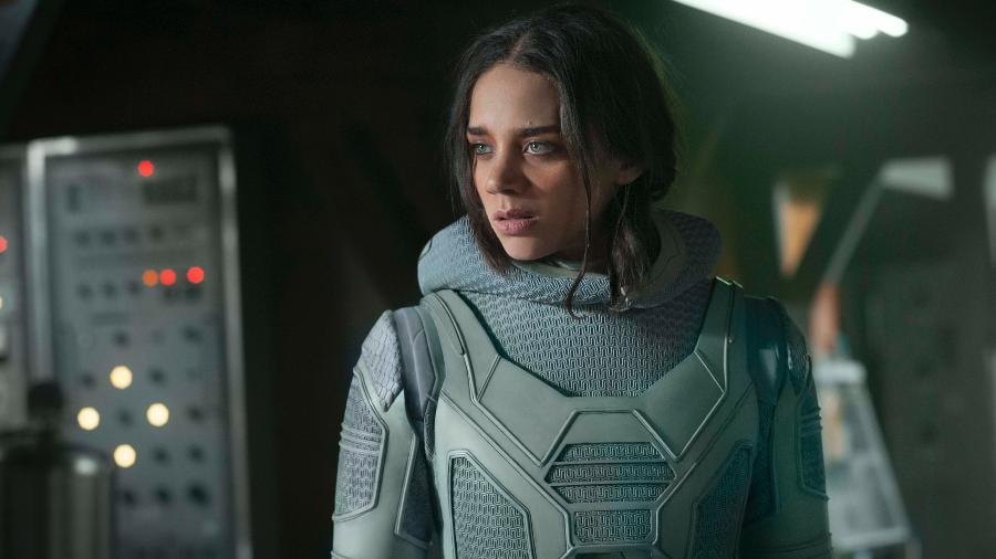 "Hannah John-Kamen em cena de ""Homem-Formiga e a Vespa"" - Marvel Studios"