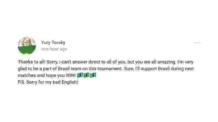 Yuri agradece ao Brasil - Reprodução/VK - Reprodução/VK