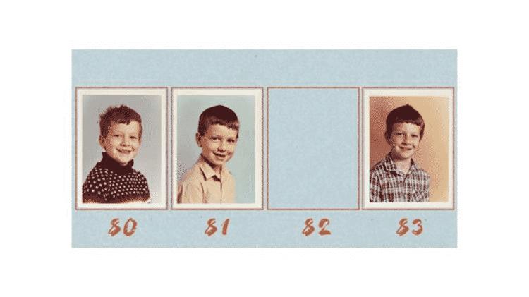 Em 1982 Matt ficou sem sua tradicional foto de escola, porque estava doente na época em que o fotógrafo apareceu para fazer a imagem - ARQUIVO PESSOAL